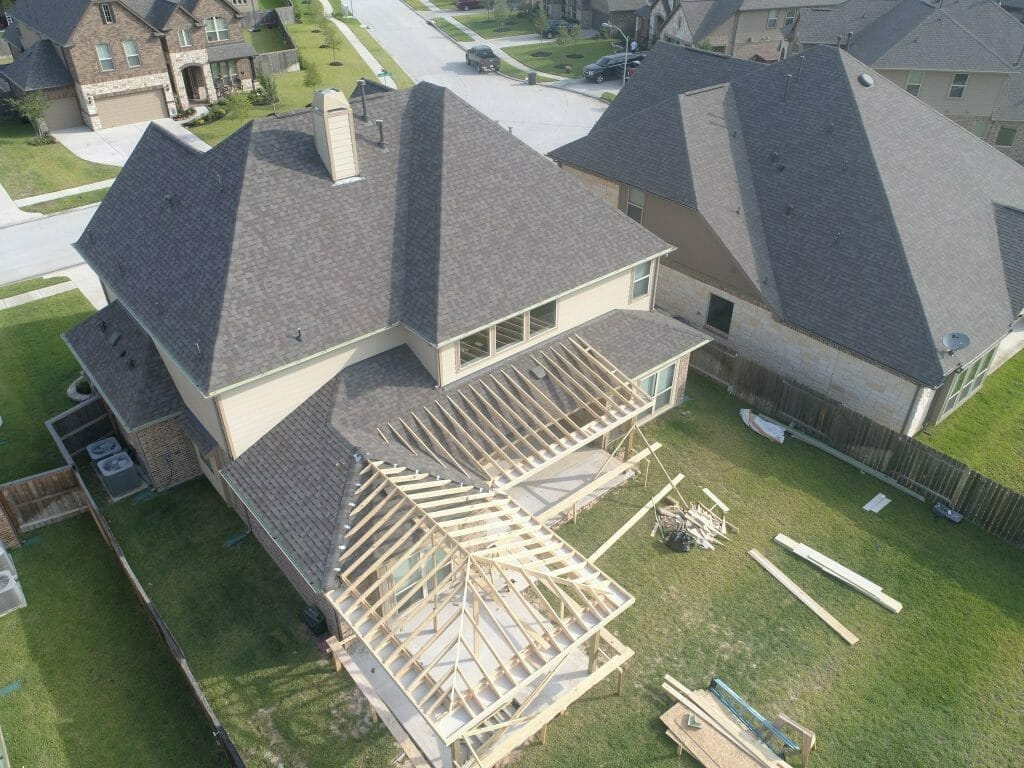 Home Addition Drone Photography