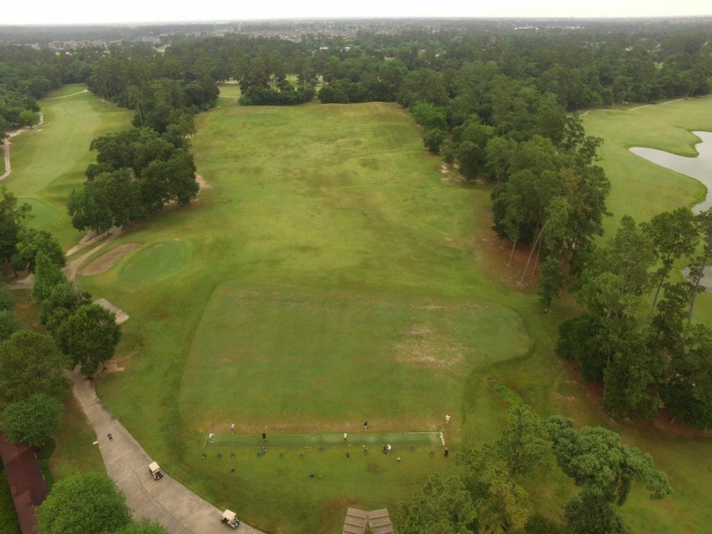 Drone Aerial Photo of Driving Range