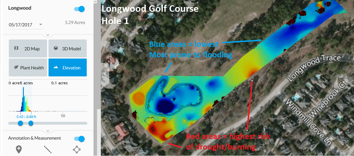 Drones Aerial Images From Texas Golf Courses Maintenance - Texas elevation map