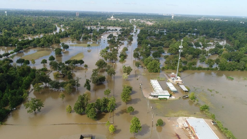 photodrone home flooding in Harris County